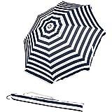 Best Beach Umbrellas - AmazonBasics Beach Umbrella - Navy Blue striped Review