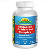 Nova Nutritions Echinacea Goldenseal Complex 450 mg 250 Capsules – promotes well-being during cold weather season