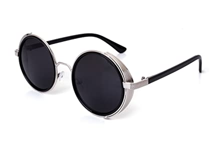 80772d29578 Image Unavailable. Image not available for. Color  Telam Retro Circle Frame  Sunglasses ...