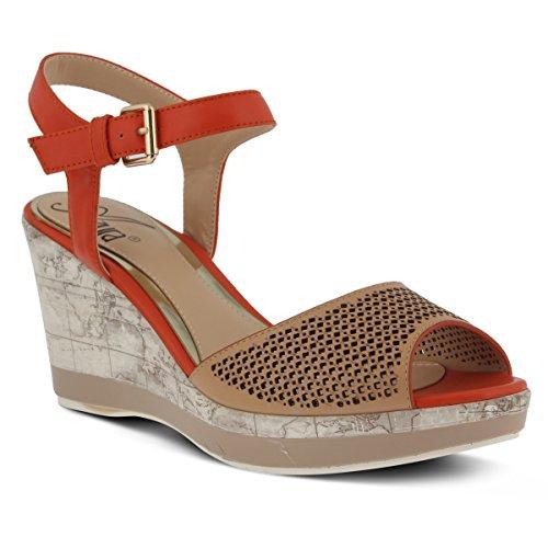 Azura by Spring Step Women's Liefde Wedge Sandal, Beige Multi, 40 EU/9 M ()
