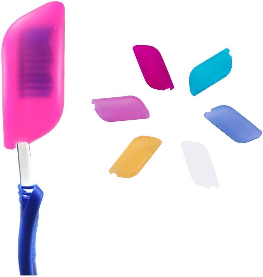O'woda 6 Piezas Funda de Cepillo de Dientes, Protectora de Cepillo de Dientes Portátil de Viaje,Evite el Polvo y Las Bacterias(6 Colores,Silicona)