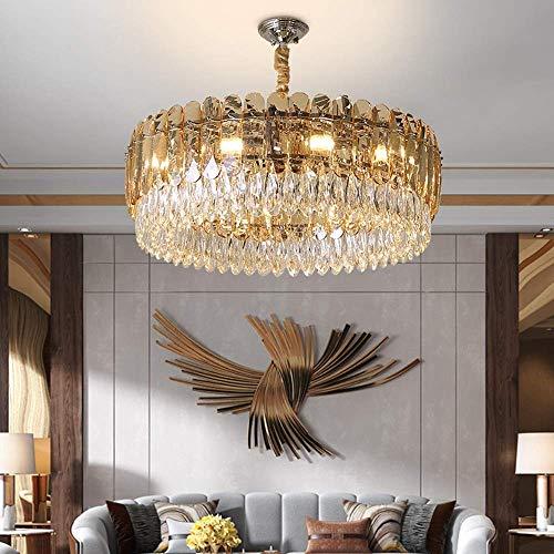 LIUCHANG Calentar hogar Moderno Minimalista Oro Redondo lampara del Dormitorio de la Sala Mesa de Comedor del Hotel Vidrio cristalino de la lampara de Techo D60cm Niza liuchang20