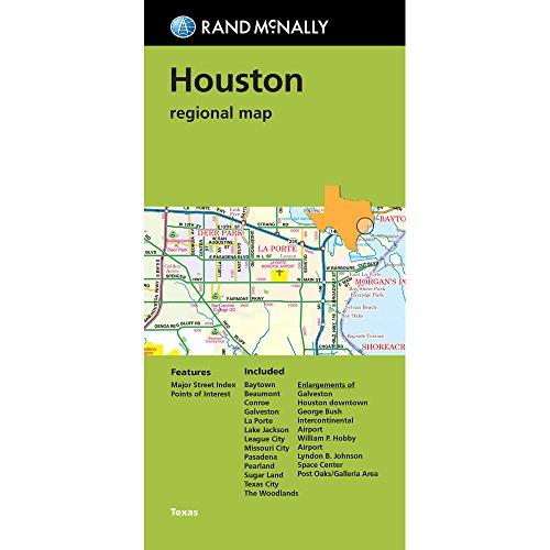 Rand McNally Houston regional map, TX (Green - Outlet Tx Houston