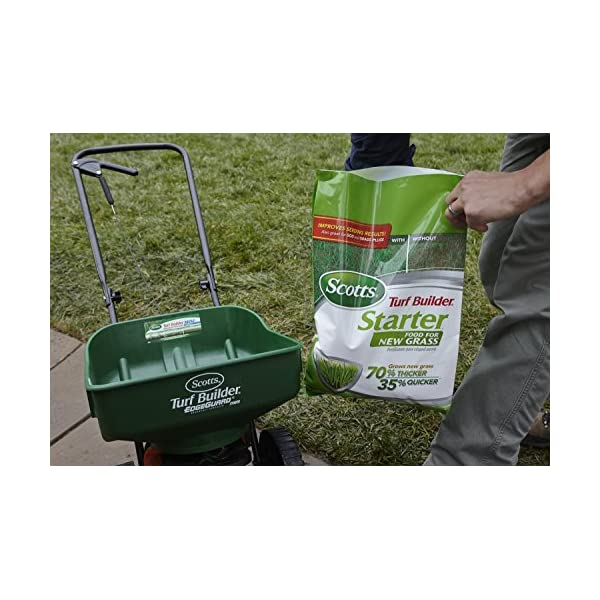Scotts Turf Builder Starter Food for New Grass, 15 lb  - Lawn Fertilizer  for Newly Planted Grass, Also Great for Sod and Grass Plugs - Covers 5,000