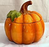 New Pier One Autumn Pumpkin Tureen Soup Bowl Candy Dish with Lid