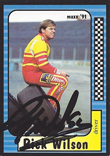 AUTOGRAPHED Rick Wilson 1991 Maxx Racing (Food Lion Driver) Winston Cup Series Vintage Signed Collectible NASCAR Trading Card with COA