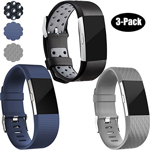 Wepro Fitbit Charge 2 Bands, Replacement for Fitbit Charge 2 HR, Buckle, Large, Small