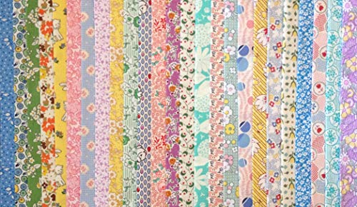 100 1930's Reproduction Fabric Fat Eighths Feedsack Quilt Shop Quality No Dups 100% Cotton by Assorted Quilt Shop Brands (Image #1)