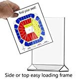 Marketing Holders Clear Acrylic Upright Sign Holder Frame Table Menu Card Display Stand - Plastic Picture Easy Change Frame