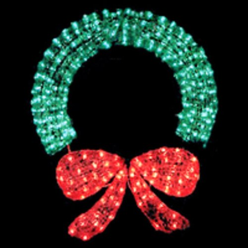 48 Inch Outdoor Lighted Christmas Wreath in US - 5