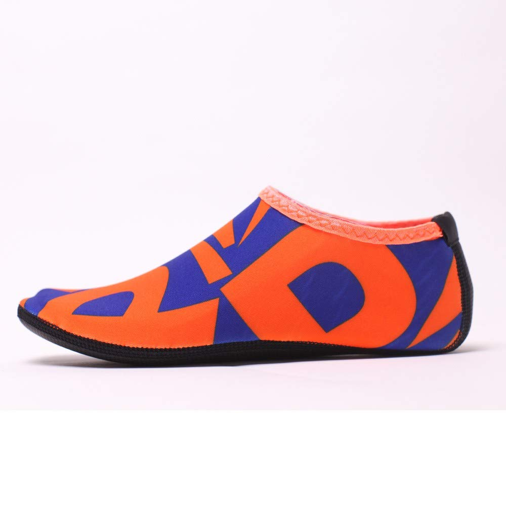 NUWFOR Beach Shoes Water Sports Unisex Water Shoes Barefoot Yoga Socks Diving Barefoot (Orange, 4-4.5 M US Length:8.25'') by NUWFOR (Image #4)