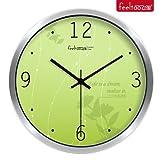 BABYQUEEN 12 Inch Creative wall Clock cute cartoon children's room bedroom ultra quiet clock Silver