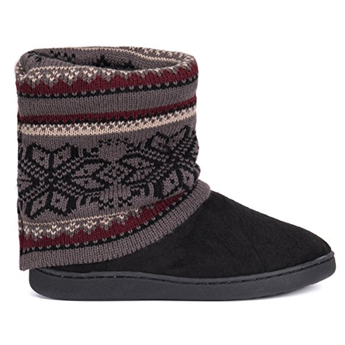 Pictures of MUK LUKS Women's Raquel Slippers-Charcoal, Medium M US 2