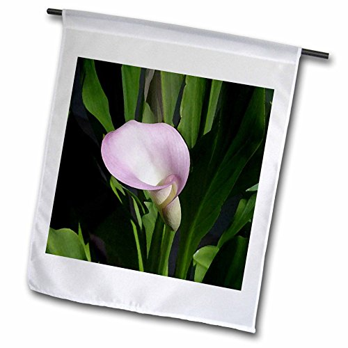 3dRose fl_4273_1 Pink Calla Lily Garden Flag, 12 by 18-Inch