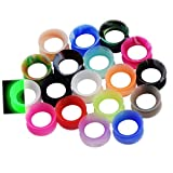 36pcs Silicone Ear Gauges Flesh Tunnels Plugs Stretchers Expander Ear Piercing Jewelry 00g(10mm)
