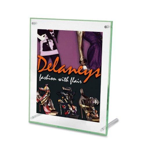 (deflect-oamp;reg; Superior Image Beveled Edge Sign Holders, Acrylic, 11 x 8-1/2, Green Tint by deflect-oÃÃ'Â'ÃÂ'Ã'®)