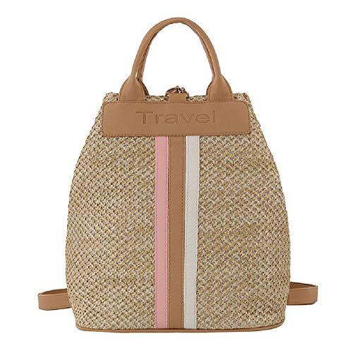 2019 New Casual Straw Bag,YuhooSun Handbags Messenger Wild Student Bag Shoulder Bag Compact Bookbag Backpack Durable (Best Laptops For Law Students 2019)