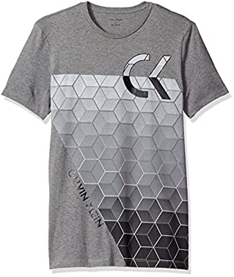 Calvin Klein Men's Short-Sleeve Crew-Neck T-Shirt with Space Dyed Logo