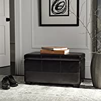 Safavieh Hudson Collection Williamsburg Brown Leather Small Storage Bench