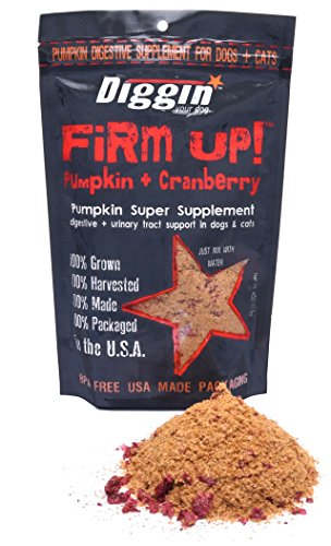 Diggin' Your Dog Firm Up! | Cranberry Pumpkin Super Supplement | GMO free | Digestive & Urinary Tract Support | 4oz Bag