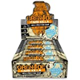 Grenade Carb Killa High Protein and Low Carb Bar White Chocolate Cookie Flavor Pack of 12