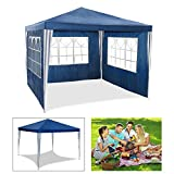 HG party tent garden pavilion beer tent blue 3x3m with extra thick steel poles club tent waterproof completely closed Camping Festival as a shelter and tarp pavilion pavilion