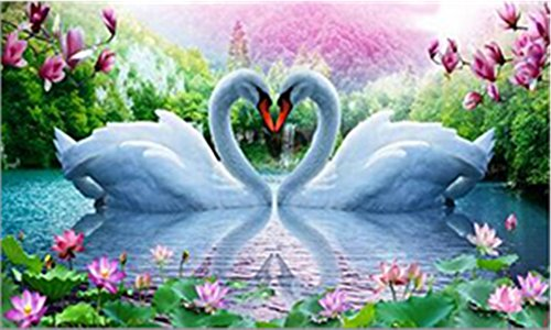 5D Swan DIY Cross Stitch Painting Sticker Pasted Gift - 3