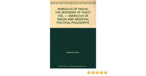 marsiglio of padua political theory