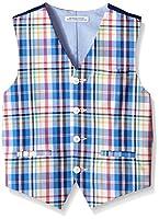 IZOD Big Boys' Chambray Vest, Medium Blue, Small
