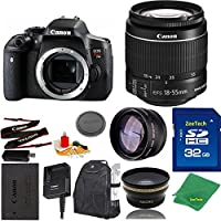 Great Value Bundle for T6I DSLR – 18-55mm STM + 32GB Memory + Wide Angle + Telephoto Lens + Backpack