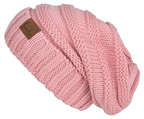 Funky Junque H-6100-71 Oversized Beanie - Indi Pink