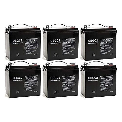 Universal Power Group UB-GC2 Golf Cart SLA/AGM Battery - 6 Volt - 200 Ah Capacity - 6 Pack (Cart Golf Battery Gc2)