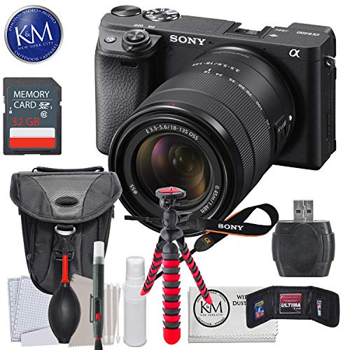 Sony a6400 Mirrorless Digital Camera Bundles (A6400 w/ 18-135mm Lens, Essential Kit)