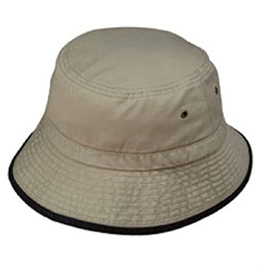 a018a252cc3 Image Unavailable. Image not available for. Color  Dustin clothing series  New Washed Bucket Hat With Trim Hats Cap Caps Mens ...