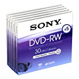 Sony 5DMW30R2H 8cm/3.5'' DVD-RW Re-Recordable Media (5 Pack)