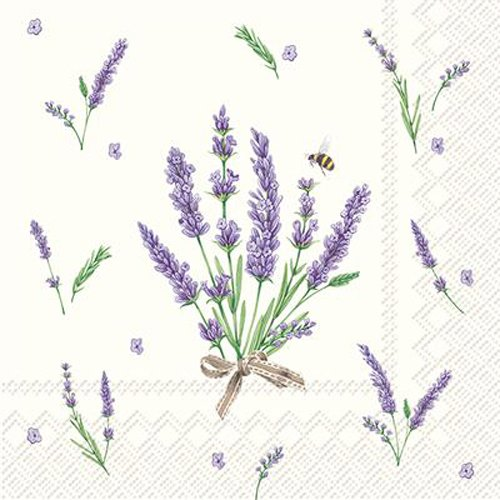 (Celebrate the Home Floral 3-Ply Paper Cocktail Napkins, Bouquet of Lavender, 20)