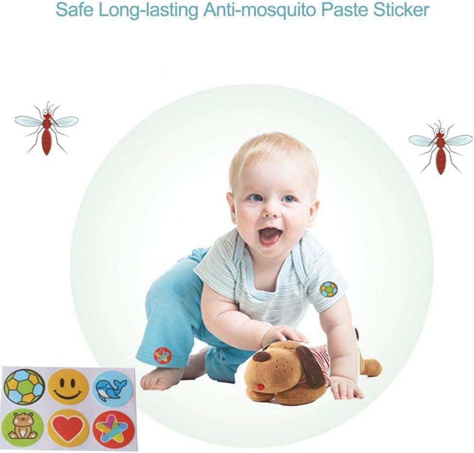 Bloomma 120PCS Autocollant R/épulsif Contre Les Moustiques Patch Naturel Anti-Moustique De Produits Naturels S/écuritaire Autocollant Anti-Moustique De Longue Dur/ée