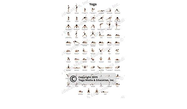 Poster de Poses de Yoga y sus nombres: Amazon.es: Hogar