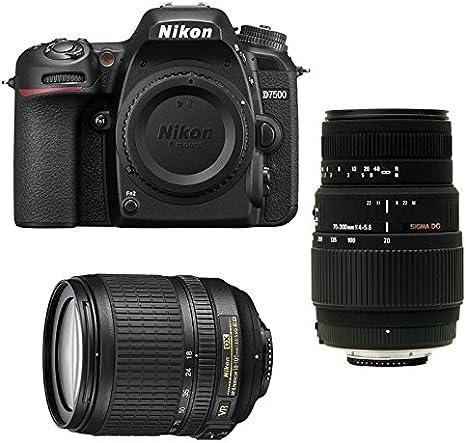 Pack Nikon D7500 + AF-S DX 18-105 mm f/3.5-5.6G ED VR + Sigma 70 ...