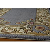 Momeni Harmony Hand-Tufted Wool Runner Rug (23 X 12) Blue