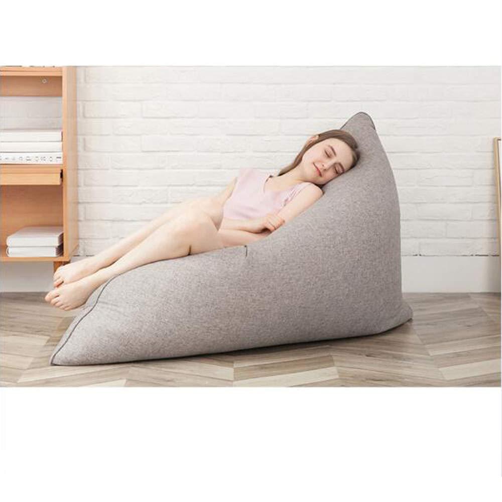 Amazon.com: Puff silla puf cojín suelo gris gigante espuma ...