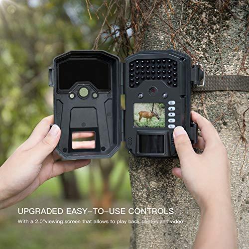 APEMAN Caméra de Chasse 20MP 1080P Caméra de Surveillance 940nm IR LEDs étanchéité IP66 Caméra de gibier à détection de… 2