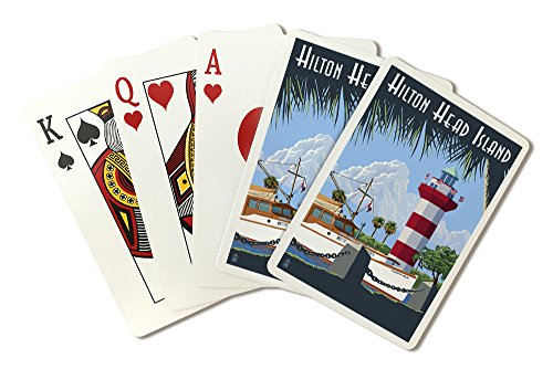 Hilton Head Island, South Carolina - Harbour Town Lighthouse (Playing Card Deck - 52 Card Poker Size with (Hilton Head Collection)