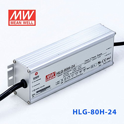 Meanwell HLG-80H-24 Power Supply - 80W 24V 3.4A - IP67