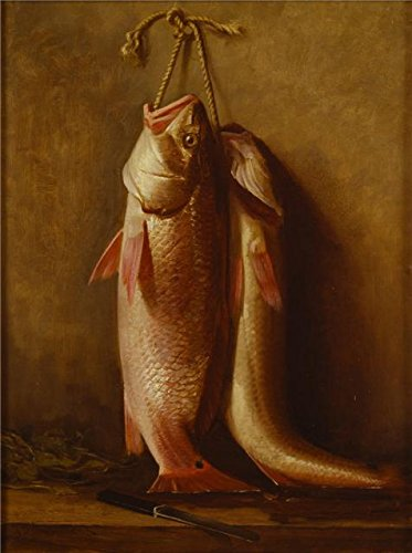 high quality polyster Canvas ,the Reproductions Art Decorative Canvas Prints of oil painting 'Robert Jenkins Onderdonk,Redfish,1890', 10x13 inch / 25x34 cm is best for Foyer artwork and Home decor and (Printable Halloween Activities)