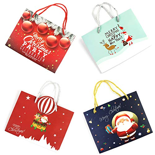 32 Count Christmas Gift Bags Bulk Bags For Gifts Set Wrapping