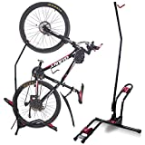 Dinsam Top Vertical Bike Rack Floor Stand, Indoor Bicycle Storage Mount, Bike Floor Stand - Fits Nearly All Standard Bikes & Frees 4 Feet of Floor Space