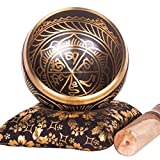 Tibetan Singing Bowl Set - HandCrafted Antique Tibetan Singing Bowl Set - Great for Meditation, Healing Relaxation Therapy, Stress & Anxiety Relief, Chakra Healing - Best Gift Product