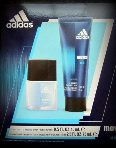Adidas Moves 2 Pc Gift Set (Adidas Gift Set Body Wash)