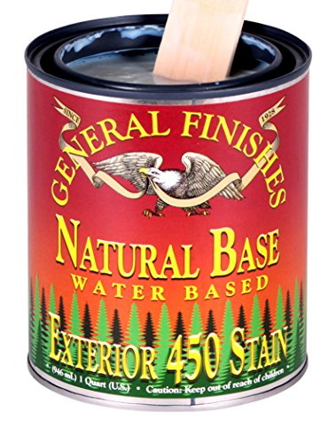 General Finishes Exterior 450 Water Based Wood Stain, 1 Quart, Natural Base